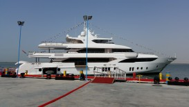 Majesty Yachts Launches its largest ever built Super Yacht. The stunning Majesty 155